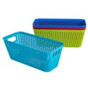 Basket Long Rect 4 Colors In Pdq 11.8 X 5.3 X 4.7   St-3939 St-3939