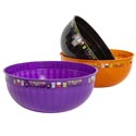 Bowl Serving Bowl 12in Dia Halloween Black-orange-purple With Graphics #st-1666