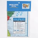 Wall Map United States 40x28 In Poly Bag