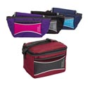 Cooler 6 Can W/shoulder Strap Insulated 6 Asst Colors See N2 Collapsible #c4259