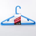 Hangers 10pc Full Size Blue Tubular Plastic