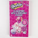 Valentine Cards 16ct Shopkins Deluxe Rmv Stick *2.99* Boxed