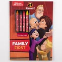 Color Book 48pg W/4 Crayons & 30 Stickers Disney *4.99* Incredibles 2 004528