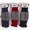 Gloves Winter Fingerless 3 Assorted (5.00) Red, Navy, And Black
