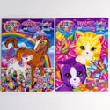 Coloring Book Lisa Frank Giant 2 Titles In 24pc Pdq #b148925-96p Made In Usa