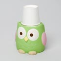 Bathroom Cup Dispenser Owl Resin Rubber Finish *9.99* # M0294400180004