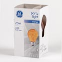 Light Bulb A19 25w Orange Ge Party Light Med Base *3.99*