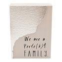 Table Sign 7x5x2 Wood/metal Perfe(k)t Family *14.99*