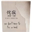 Table Sign 8x7x2 Wood/metal Wabi Sabi - The Art *17.49*