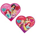 Valentine Candy Disney Princess Heart Box 1.6 Oz Milk Choc Heart Counter Display