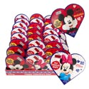 Valentine Candy Mickey/minnie Heart 1.6 Oz Milk Choc Counter Display