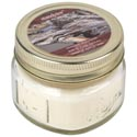 Candle Scented Mahogany Beach- Wood 3.0 Oz Mason Jar Starlytes