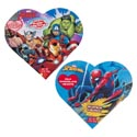 Valentine Candy Spiderman/ Avengers Heart Box 1.6 Oz Milk Chocolate Heart Counter Display