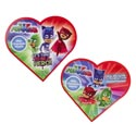 Valentine Candy Pj Masks Heart 1.6 Oz Milk Choc Heart Counter Display