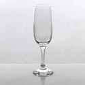 Champagne Flute Glass 7.25 Oz Romantic Engraved Stem