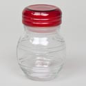 Jar 9.5oz Glass W/red Lid
