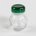 Jar 9.5oz Glass W/green Lid