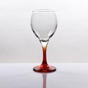 Wine Glass 10.5 Oz Orange Stem All Purpose