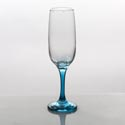Flute Glass 7.3oz Aquamarine Stem