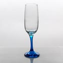 Flute Glass 7.3oz Blue Stem