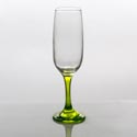 Flute Glass 7.3oz Green Stem