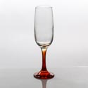 Flute Glass 7.3oz Orange Stem