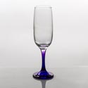 Flute Glass 7.3oz Purple Stem