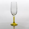 Flute Glass 7.3oz Yellow Stem