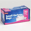 Trash Bags 110ct - 4-6 Gallon Small Garbage Bags W/twist Ties