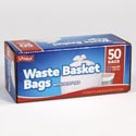 Trash Bags 50ct - 8 Gallon Waste Basket Bags W/twist Ties