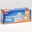 Trash Bags 45ct - 13 Gallon Tall Kitchen Bags W/twist Ties