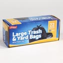 Trash Bags 22ct - 33 Gallon Trash And Yard Bags W/twist Ties