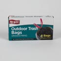 Trash Bags 8ct 30 Gal Outdoor .42 Mil Drawstring In Prtd Box