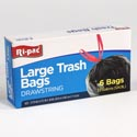 Trash Bags 6ct - 33 Gallon Drawstring