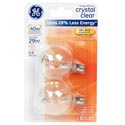 Light Bulbs 2pk G16.5 29w=40w Ge Globe Halogen Candle Base *4.99* Clear Carded