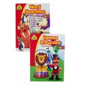 Activity Books School Zone #1 Games + Puzzles/word Search Pdq 2 Assorted