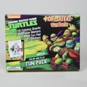 Fun Pack Tmnt Pop Outz 12 Color Boards,10 Markers Boxed 32 Page Pad, 25 Stickers