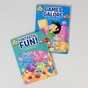Activity Books School Zone #3 Fant.fun/games Galore 2 Assorted Pdq