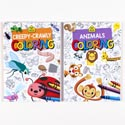 Coloring Book School Zone 2 Asst In Pdq Animals/creepy Crawlers