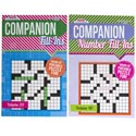 Crossword Companion Fill-in Pocket Size 2asst Pdq Ppd $3.95