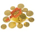 Candy Milk Chocolate Coins Mesh Bag 1.5oz In Counter Tray Disp