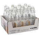 Bottle Glass 10.14 Oz Clear W/hermetic Clip 2-12 Pc Display #06644