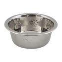 Pet Bowl Stainless Steel 1 Qt Embossed Paw Print 83g #oi-131