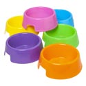 Pet Bowl 9in 72 Oz Assorted Colors Plastic #bw009
