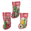 Dog Chews Christmas Rawhide Stocking 4-6pc 3 Asst In Pdq