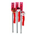 Cat Toy Christmas Wand 19.5in 3 Assorted In Pdq Santa, Snowman, Reindeer