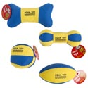 Dog Toy Aqua Flotable W/sqkr Blue/yellow 4 Styles In Pdq Hang Tag