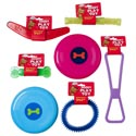 Dog Toy Vinyl & Plastic 6 Shapes Asst Colors In Pdq -hang Tag