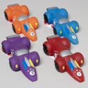 Dog Toy Vinyl Race Car With Squeaker 4 Colors In Pdq Hang Tag #s20069