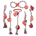 Dog Toy Christmas Rope Chews 6 Asst Styles 3 Colors In Pdq Hang Tag #c66014